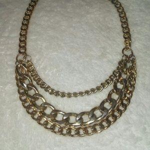 Jewelry - Three-Strand Goldtone Necklace